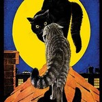 Cats on a Cold Tin Roof - Art Print