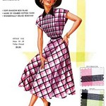Timely Tucked Gingham by Fashion Frocks - Art Print