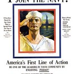 Your country needs you - join the Navy! by Rolf Armstrong - Art Print