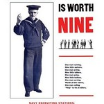 A man in time is worth nine by Syndicate Printing Co - Art Print