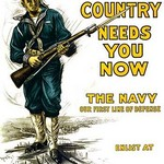 Your country needs you now - The Navy, our first line of defense by Josef Pierre Nuyttens - Art Print