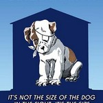 Determination: It's not the size of the dog in the fight; it's the size of fight in the dog by Wilbur Pierce - Art Print