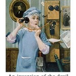 Communicate / Telephone by Wilbur Pierce - Art Print