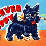 Wind Up Clever Puppy - Art Print