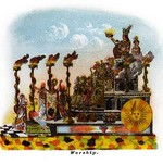 Worship - Mardi Gras Parade Float Design - Art Print