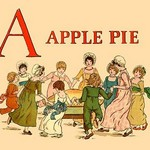 A Apple Pie by Kate Greenaway - Art Print