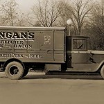 Kingan's 'Reliable' Hams and Bacon, Fresh Pork and Beef Delivery Truck #3 - Art Print