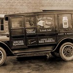 Harry H. Redfearn & Co. Delivery Truck - Good Luck Evaporated Milk & Cheese - Art Print