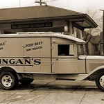 Kingan's 'Reliable' Pork-Beef Dairy Products Delivery Truck - Art Print
