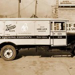 Kuhner Packing Company, Muncie, Indiana Delivery Truck of Keener Meats - Art Print