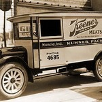 Keener Brand Meets, Kuhner Packing Co. Delivery Truck #2 - Art Print