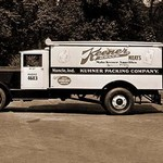 Keener Brand Meets, Kuhner Packing Co. Delivery Truck - Art Print