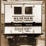 Kuhner Packing Company Delivery Truck - Rear View - Art Print