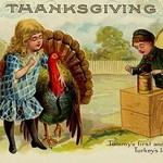 Thanksgiving; Tommy's First and Turkey's Last Picture - Art Print