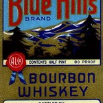 Blue Hills Bourbon Whiskey - Art Print