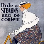 Ride a Stearns Bike and be Content by Ottomann - Art Print