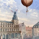 French Balloon Lift off - Art Print