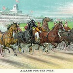 A Dash for the pole by Currier & Ives - Art Print