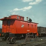 Red Caboose - Art Print