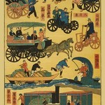 Japanese modes of Transportation at Turn of Century - Art Print