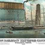 Operated by Union Railroad Elevator Company by Calvert Lith. Co - Art Print