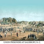 Union prisoners at Salisbury, N.C. by Act. Major Otto Boetticher - Art Print