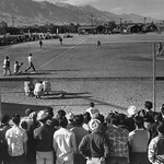 Baseball game by Ansel Adams - Art Print