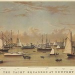 The Yacht squadron at Newport - Art Print