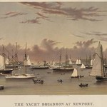 The Yacht squadron at Newport #2 - Art Print