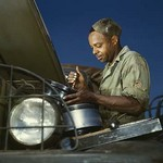 African American World War II Truck Mechanic - Art Print