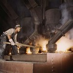 African American working in a Smelting Plant - Art Print