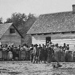 African American Slaves on a Plantation - Art Print