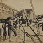 African American Railroad Construction - Art Print