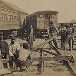 African American Railroad Construction #2 - Art Print