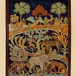 Animal Tapestry by Needlecraft Magazine #2 - Art Print