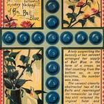 Ball Blue Puzzle - Art Print