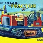 Battery Operated Tractor - Art Print