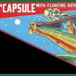 Friction Capsule with Floating Astronaut - Art Print