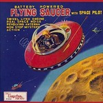 Battery Operated Flying Saucer - Art Print