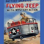 Battery Operated Flying Jeep with Mystery Action - Art Print