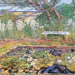 A Garden on Long Island by Frederick Childe Hassam - Art Print