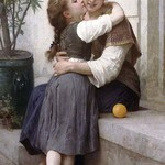 A Little Coaxing by William-Adolphe Bouguereau - Art Print