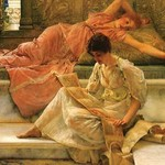A Favorite Poet by Sir Lawrence Alma-Tadema - Art Print