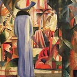 A Large Light Shop Window by August Macke - Art Print