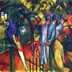 Zoological gardens by August Macke - Art Print