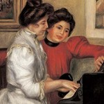Yvonne and Christine Lerolle at the piano by Pierre-August Renoir - Art Print