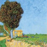 A Lane near Arles by Vincent van Gogh - Art Print