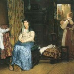 A Birth Chamber, Seventeenth Century by Sir Lawrence Alma-Tadema - Art Print