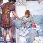 A Quiet Greeting by Sir Lawrence Alma-Tadema - Art Print