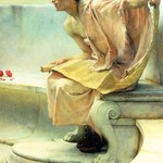 A Reading of Homer, Detail [2] by Sir Lawrence Alma-Tadema - Art Print